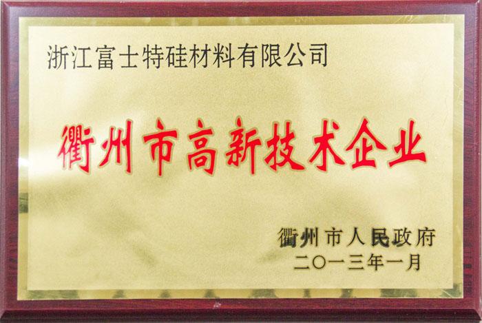 衢州市高新技术企业